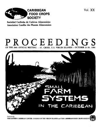CFCS 1984 Vol. 20.pdf - Caribbean Food Crops Society