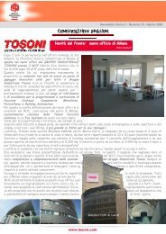 Newsletter n. 18 aprile 2009 - Gruppo Industriale Tosoni