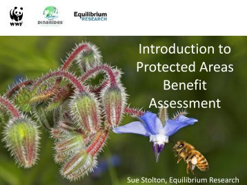 Introduction to the Protected Areas Benefit ... - Dinaric Arc parks