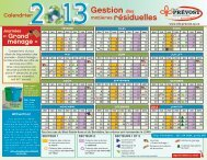 Calendrier de gestion des matières résiduelles 2013 - Prévost