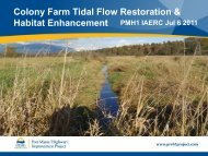 Colony Farm Tidal Flow Restoration &