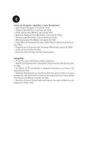 4. Cartas de discípulos españoles y otros documentos