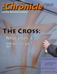 The What does it mean to us? - Chortitzer Mennonite Conference