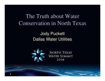 The Truth about Water Conservation in North Texas