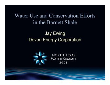 Water Use and Conservation Efforts in the Barnett Shale