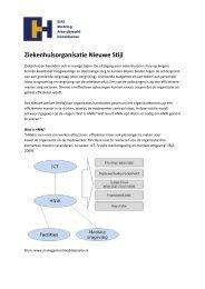 Ziekenhuisorganisatie Nieuwe Stijl - StAZ