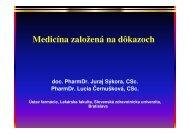 Medicína založená na dôkazoch - Slovenská zdravotnícka univerzita