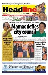 Binay backs Mabalacat cityhood - Headline Gitnang Luzon