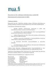 Maaseudun uusi aika -yhdistyksen toimintakertomus vuodelta 2012 ...