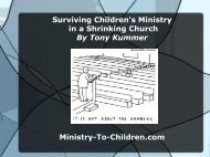 Surviving Children's Ministry in a Shrinking Church - Ministry-To ...