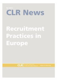 recruitment practices in europe - Construction Labour Research