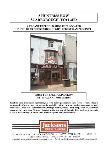 5 huntriss row scarborough, yo11 2ed - Jacksons Property Service