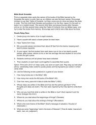 Bible Book Scramble and Puzzle Relay Race game ideas