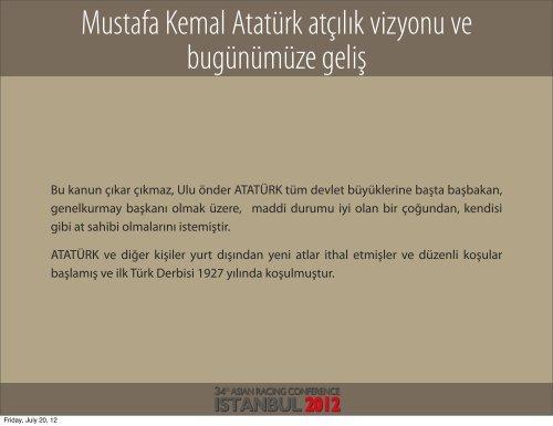 President The Jockey Club of Turkey - TJK