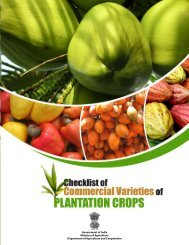 Checklist of Commercial Varieties of Plantation Crops