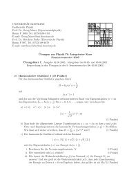 Blatt 7 - Theoretical Physics at University of Konstanz/Theoretische ...