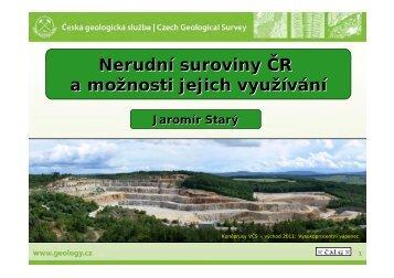 Nerudní suroviny ČR a možnosti jejich využívání - TOP EXPO CZ