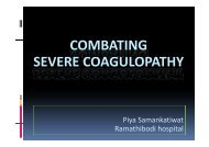 COMBATING S CO G O SEVERE COAGULOPATHY
