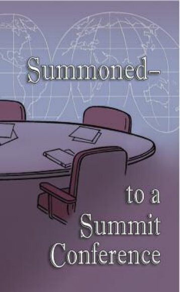 Summoned--to a Summit Conference Sample - Christian Light ...