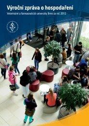 Výroční zpráva o hospodaření - Veterinární a farmaceutická ...