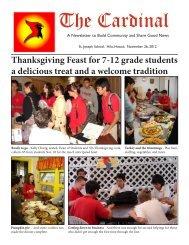 Cardinal Newsletter Nov. 26, 2012 - St. Joseph School