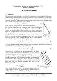 1.3 Reversionspendel - Institut für Experimentelle und Angewandte ...