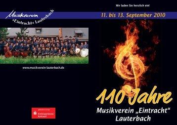 beim Musikverein Eintracht Lauterbach