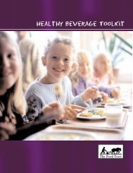 Healthy Beverage ToolKit - The Food Trust