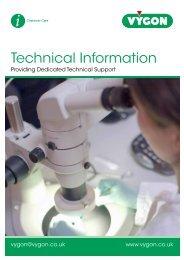 Technical Information Booklet (200KB) - Vygon (UK)