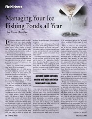 Managing Your Ice Fishing Ponds all Year - Virginia Lake ...