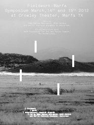 download the program (pdf) - Fieldwork: Marfa