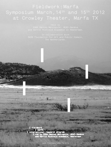 download the program (pdf) - Fieldwork: Marfa
