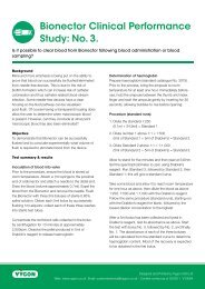 Bionector Clinical Performance Study: No.3 - Vygon (UK)