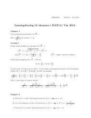 Løsningsforslag til eksamen i MAT111 V˚ar 2013