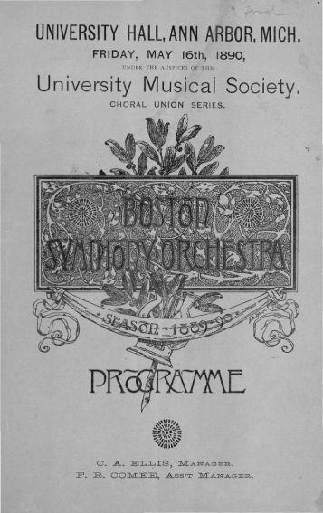 University Musical Society.