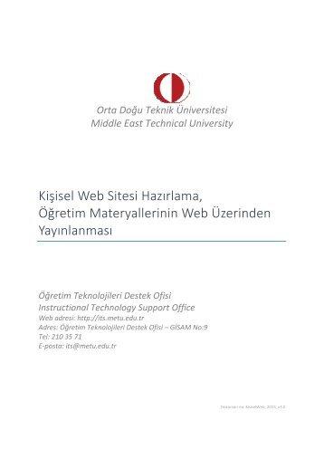 Seminer Notları - Öğretim Teknolojileri Destek Ofisi - Middle East ...