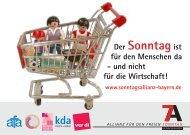 Postkarten - Allianz für den freien Sonntag - Bayern