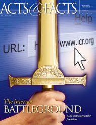 BATTLEGROUND - Institute for Creation Research