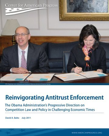 Reinvigorating Antitrust Enforcement - Law Offices of David A. Balto