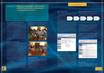 Příprava materiálů v elektronické podobě pro jednání ... - Egovernment