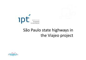 São Paulo state highways in the Viajeo project - Viajeo.eu