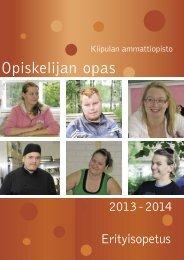 Opiskelijan opas 2013-2014 - Kiipulan ammattiopisto