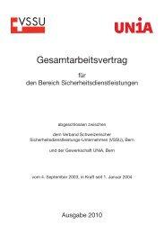 GAV Inhalt d-f-i-e 10.indd - GAV-Service.ch