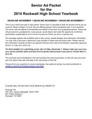 2014SeniorAdPacket - Rockwall ISD