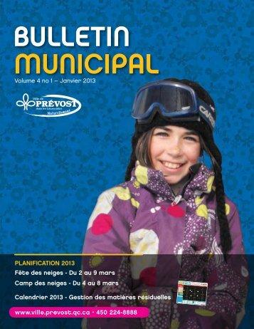Bulletin municipal - Janvier 2013 - Prévost