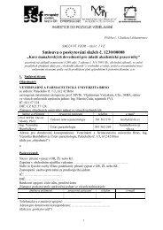 smlouva o jazykové výuce na školní rok 2000/2001 - Veterinární a ...