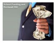 Board Work Session – February 7, 2011 - Rockwall ISD
