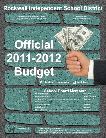 2012 Final Budget Document - Rockwall ISD