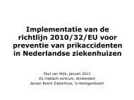 Implementatie van de richtlijn 2010/32/EU voor preventie ... - EPSU