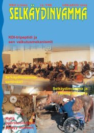 KDI-tripeptidi ja sen vaikutusmekanismit ... - Invalidiliitto.fi